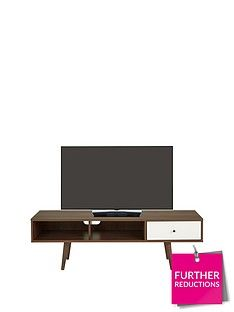 Ideal Home Monty Retro Tv Unit - Fits Up To 65 Inch Tv Best Price, Cheapest Prices