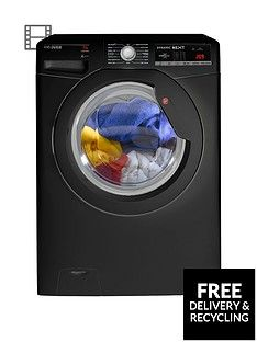Hoover Dynamic Next DXOA67LB3B 7kg Load, 1600 Spin Washing Machine with One Touch - Black Best Price, Cheapest Prices