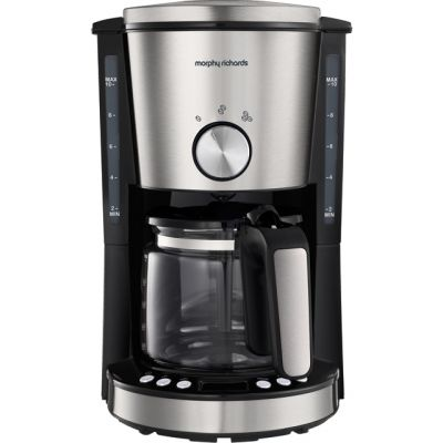 Morphy Richards Evoke 162521 Filter Coffee Machine - Brushed Stainless Steel Best Price, Cheapest Prices