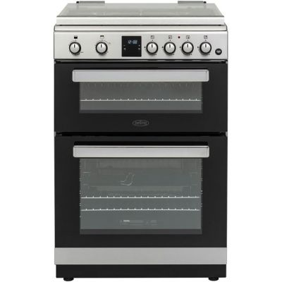 Belling FSG608DMc 60cm Gas Cooker with Full Width Electric Grill - Stainless Steel - A+/A Rated Best Price, Cheapest Prices