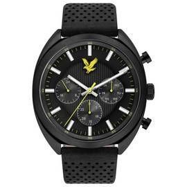 Lyle and Scott Men's Black Leather Strap Watch Best Price, Cheapest Prices