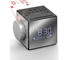 SONY ICF-C1PJ Portable FM/AM Clock Radio - Silver Best Price, Cheapest Prices