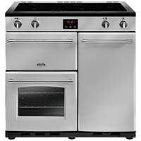 Belling Farmhouse 90Ei 90cm Electric Induction Range Cooker in Silver 444444131 Best Price, Cheapest Prices