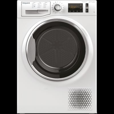 Hotpoint ActiveCare NTM1192XBYUK 9Kg Heat Pump Tumble Dryer - White - A++ Rated Best Price, Cheapest Prices