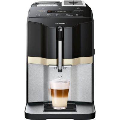 Siemens EQ3 TI305206RW Bean to Cup Coffee Machine - Black / Stainless Steel Best Price, Cheapest Prices