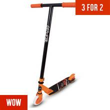 Zinc Detour Stunt Scooter - Black and Orange Best Price, Cheapest Prices