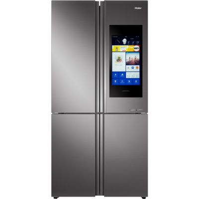 Haier HTF-552DGS6U1 Wifi Connected American Fridge Freezer - Stainless Steel / Glass - A+ Rated Best Price, Cheapest Prices