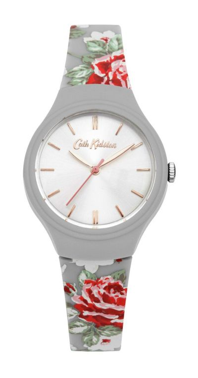 Cath Kidston Ladies Grey Silicone Strap Watch Best Price, Cheapest Prices