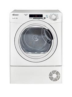Candy Grand'O Vita GVS C9DG 9kg Load Condenser Sensor Tumble Dryer with Smart Touch - White Best Price, Cheapest Prices
