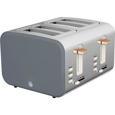 Swan Nordic ST14620GRYN 4 Slice Toaster - Grey Best Price, Cheapest Prices