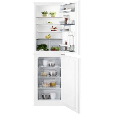 AEG SCB6181VLS Integrated 50/50 Fridge Freezer with Sliding Door Fixing Kit - White - A+ Rated Best Price, Cheapest Prices