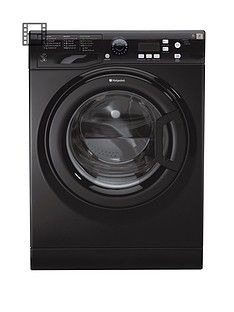Hotpoint ExtraWMXTF842k 8kg Load, 1400 Spin Washing Machine - Black Best Price, Cheapest Prices