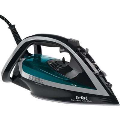 Tefal Turbo Pro Anti-Scale FV5640 2600 Watt Iron -Green / Black Best Price, Cheapest Prices