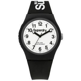 Superdry Men's Black Silicone Strap Watch Best Price, Cheapest Prices