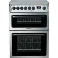 HOTPOINT HAE60XS 60cm Double Oven Electric Cooker - Stainless Steel Best Price, Cheapest Prices