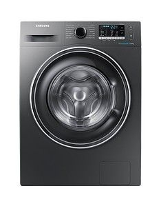 Samsung WW70J5555EX/EU 7kg Load, 1400 Spin Washing Machine with ecobubble™ Technology and 5 Year Samsung Parts and Labour Warranty - Graphite Best Price, Cheapest Prices