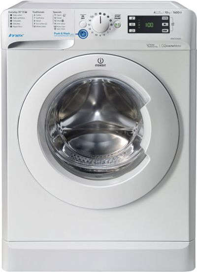 Indesit Innex BWE101684XWUK 10Kg Washing Machine with 1600 rpm - White - A+++ Rated Best Price, Cheapest Prices