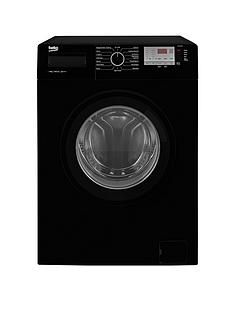 Beko Wtg841M2B 8Kg Load, 1400 Spin Washing Machine - Black Best Price, Cheapest Prices