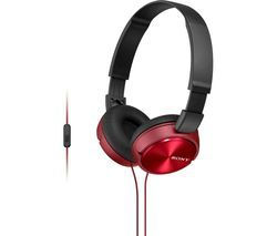 SONY MDR-ZX310APR Headphones - Red Best Price, Cheapest Prices