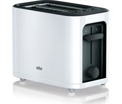 BRAUN Series 3 PurEase HT3000.WH 2-Slice Toaster - White Best Price, Cheapest Prices