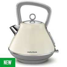 Morphy Richards 100107 Evoke Pyramid Kettle - Cream Best Price, Cheapest Prices