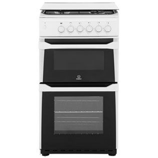 Indesit ITL50GW Gas Cooker with Gas Grill - White - A+ Rated Best Price, Cheapest Prices