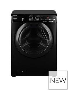Hoover DWOAD610AHF7B-80 10kg, 1600 Spin Washing Machine- Black/Tinted Door Best Price, Cheapest Prices