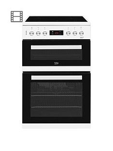 Beko KDC653W 60cm Electric Cooker with Ceramic Hob and Connection - White Best Price, Cheapest Prices