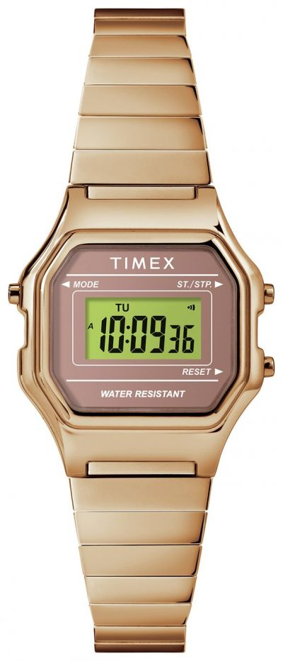 Timex Rose Gold Coloured Resin Bracelet Watch Best Price, Cheapest Prices