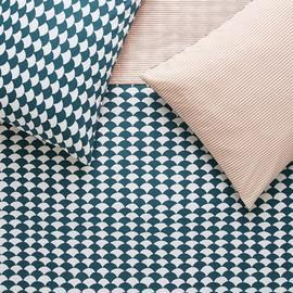 Habitat Scallop Teal & Pink Bedding Set - Kingsize Best Price, Cheapest Prices