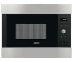 ZANUSSI ZBG26642XA Built-In Microwave with Grill - Brushed Steel Best Price, Cheapest Prices