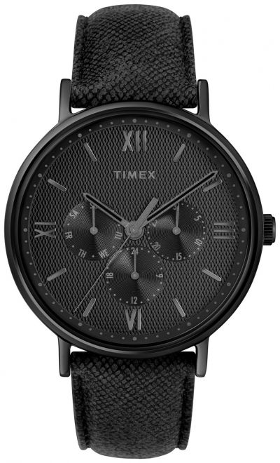 Timex Black Leather Strap Watch Best Price, Cheapest Prices