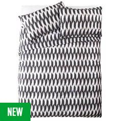 Argos Home Global Monochrome Jacquard Bedding Set - Double Best Price, Cheapest Prices
