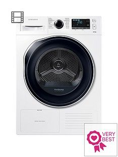 Samsung DV80K6010CW/EU 8kgLoad Tumble Dryer with HeatPump Technology - White Best Price, Cheapest Prices