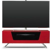 Alphason CRO2-1000CB-RED Chromium 2 TV Cabinet for up to 50