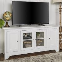 White Wood Veneer TV Unit with Storage - Foster - TV's up to 55