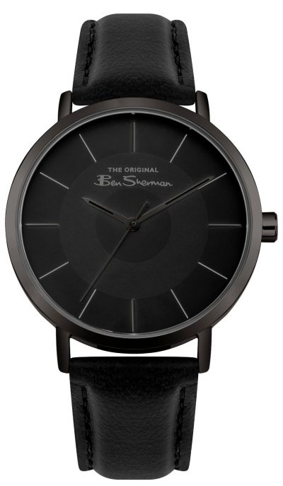 Ben Sherman Men's Black Faux Leather Strap Watch Best Price, Cheapest Prices