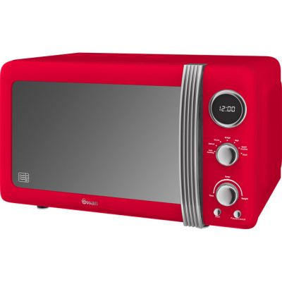 Swan Retro SM22030RN 20 Litre Microwave - Red Best Price, Cheapest Prices