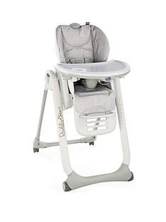 Chicco Polly 2 Start Highchair - Happy Silver Best Price, Cheapest Prices