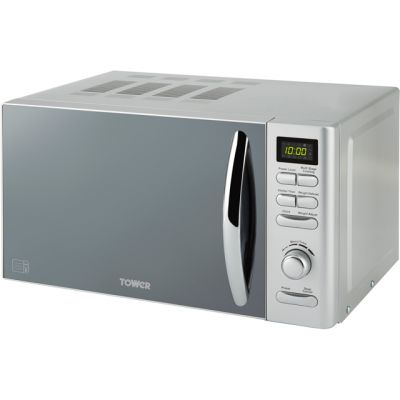 Tower T24019S 20 Litre Microwave - Silver Best Price, Cheapest Prices