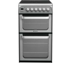 HOTPOINT Ultima HUE52GS 50 cm Electric Cooker - Graphite Best Price, Cheapest Prices