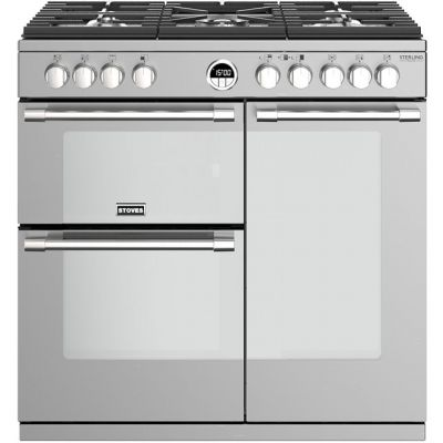 Stoves Sterling Deluxe S900G 90cm Gas Range Cooker - Stainless Steel - A/A Rated Best Price, Cheapest Prices