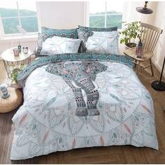 Argos Home Elephant Mandala Bedding Set - Double Best Price, Cheapest Prices