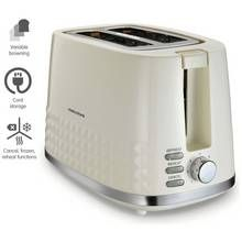 Morphy Richards 220022 Dimensions 2 Slice Toaster - Cream Best Price, Cheapest Prices