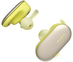 SONY WF-SP900Y Wireless Bluetooth Headphones - Yellow Best Price, Cheapest Prices