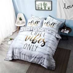 Argos Home Chill Slogan Bedding Set - Double Best Price, Cheapest Prices
