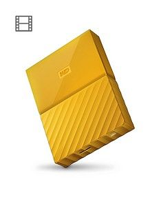 Western Digital My Passport 4TB Portable External Hard Drive - Yellow Best Price, Cheapest Prices