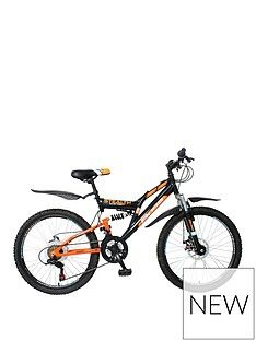 Boss Cycles Boss Stealth Boys Bike 24 inch Wheel Full Suspension Dual Disc Best Price, Cheapest Prices