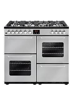 New World NW 100DFT 100cm Dual Fuel Range Cooker - Silver Best Price, Cheapest Prices