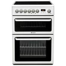 Hotpoint HAE60P Double Electric Cooker - White Best Price, Cheapest Prices